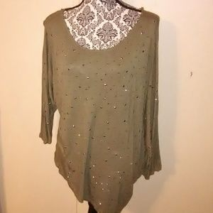 Olive Bling Top